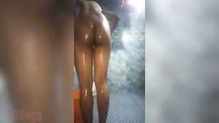 Booby Teen angel nude washroom show