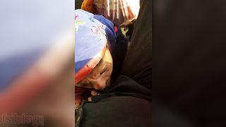 Muslim aunty eating cum of a stranger guy roadside