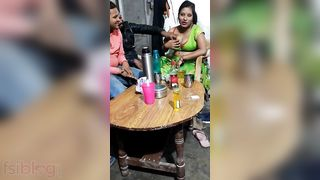 Breasty Randi Bhabhi having pleasure with her clients