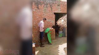 Village Bhabhi Doggy position sex in the backyard