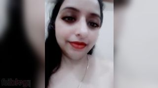 Hot Paki Bhabhi in nature's garb MMS solo selfie