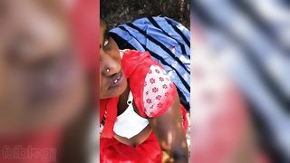 Telegu Randi engulfing rod of her client outdoor