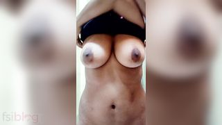 Indian GF showing her hot large milk shakes on webcam