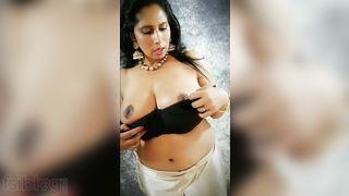 Breasty Bhabhi striptease show seduction clip