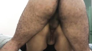 Hardcore anal fuck with husbands boss at home