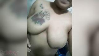 Breasty tattoed Bengali PLAYGIRL bare MMS