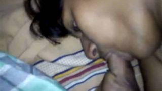Youthful Tamil lovers nude exposure and oral job