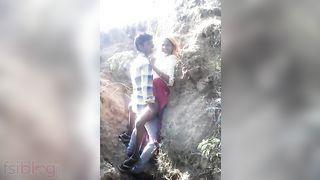 Adivasi cutie outdoor sex MMS caught by a voyeur