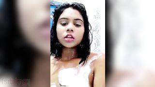 Breasty angel undressed baths selfie MMS episode