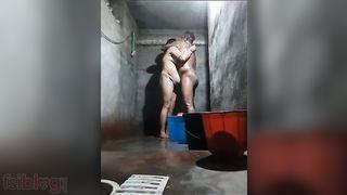 Aged pair washroom sex movie scene looks hawt