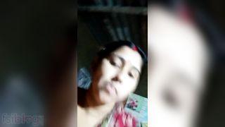 Breasty Bangla wife exposing her giant milk tankers