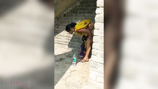 Indian Bhabhi illicit sex in the outdoors