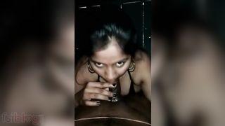 Sexy floozy engulfing dick of her customer episode