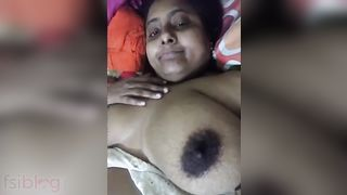 Breasty Bangladeshi girl showing her exposed large boobs on cam