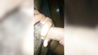 Desi housewife sloppy blowjob to her pervert spouse MMS