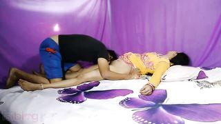 Lascivious pair homemade Indian porn clip