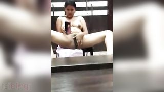 Desi Concupiscent housewife groaning sex action on cam