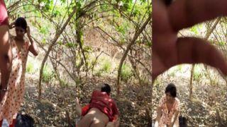 Desi paramours outdoor enjoyment MMS sex movie