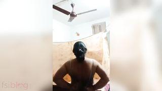 Desi lascivious Bhabhi striptease show video