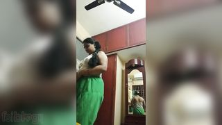 Lovely exposed Indian wife teasing her husbands ally