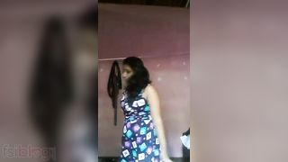 Breasty south Indian cutie striptease clip