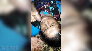 Indian aunty cum facial sex movie scene