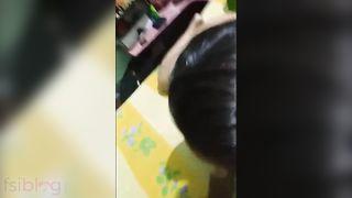 Cute Bhabhi engulfing pecker of her devar in nudity mms video