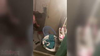 Pakistani aunty spycam footage from bathroom