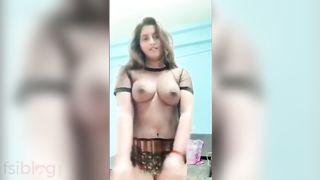 Fantastic and nice nude video of Gunnjan Aras flashing her nude tits