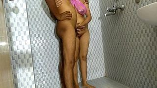 Indian Taboo! Aunty With Big Tits and Ass Gets Fucked In The Bathroom