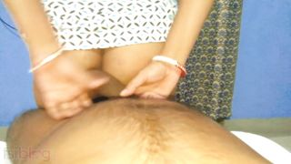 Cheating man penetrates tight XXX trench of wife's Desi stepsister