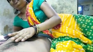 Indian village sex - Bhojpuri handjob and blowjob