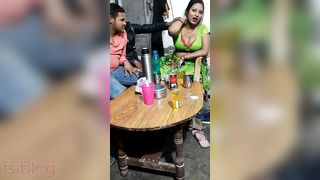 Busty indian aunty having XXX fun with her clients