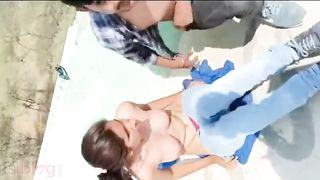 Sex on the roof | Desi fresh Mms Video Leaked Online