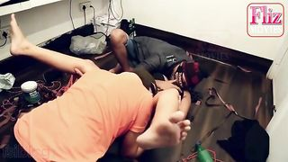 "FlizMovies (2021) ""Saturday Nights"" – UNCUT Hindi threesome full video"