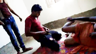 Newly married Dehati couple threesome porn MMS
