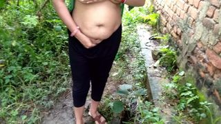 bestver pissing and fucking outdoor with my desi indian mom