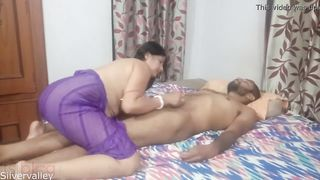 Desi in pink dress wants no sex with husband still XXX action happens