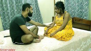 Bearded guy fucks Desi girlfriend in different XXX positions on bed