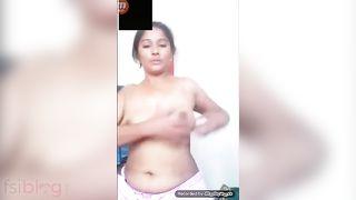 Desi striptease show nude MMS movie
