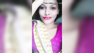 Desi cute boob show MMS selfie episode