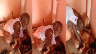 Dehati older lad sex with a village slut