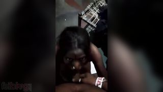 Darksome Tamil floozy sex with her abode owners son