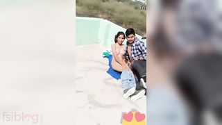 Desi paramours caught fucking in the outdoor MMS episode