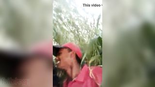 Juvenile paramours group sex in an open field MMS episode
