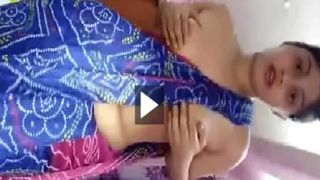 Hot Indian saree hotty teasing her lover live video call