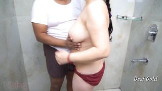 Indian school teacher sex with her colleague in bathroom