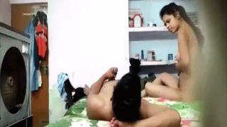 Desi college students sex at home got captured on web camera