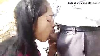 College hotty oral sex outdoors episode to ignite your sex nerves