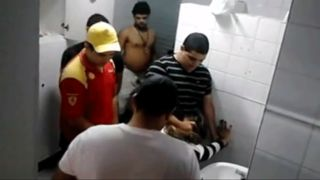 Desi Group sex inside baths with a desi hotty